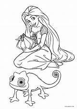 Coloring Pages Tangled Rapunzel Pascal Printable Cool2bkids Disney Books Drawing Colorings Getdrawings Print Printables sketch template