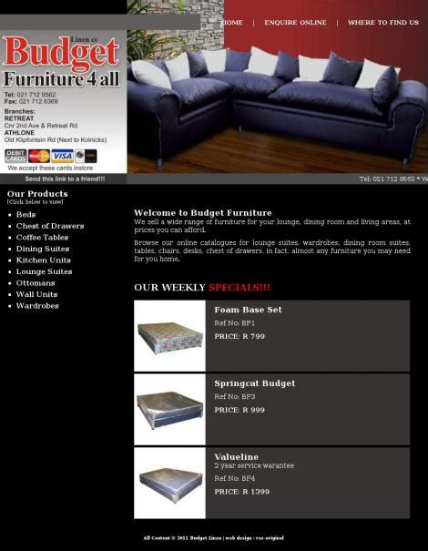 specials budget furniture 4 all budget furniture 4 all athlone wes kaap
