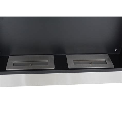 homcom ventless bio ethanol fireplace recessed wall