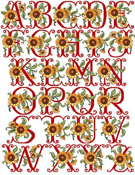 sunflowers xs alphabet