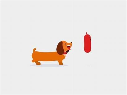 Eat Animation Dribbble Dog Dachshund Sausage Dogs