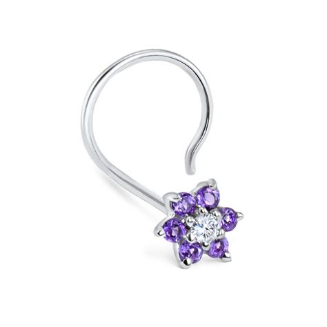 purple amethyst 11 ct white gold flower nose 4k wallpapers