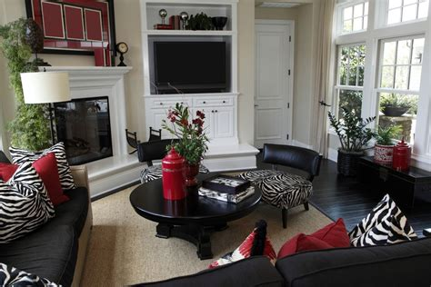 casual living room decorated heavily  black  black