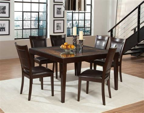 Square Dining Tables Size : Elegant Square Dining Tables
