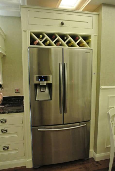 image result for built in wine rack above fridge wine