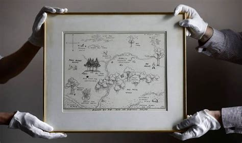 Winnie-the-pooh Original Map Of Hundred Acre Wood Sells
