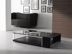 modern wenge veneered coffee table with black glass top With all modern glass coffee table