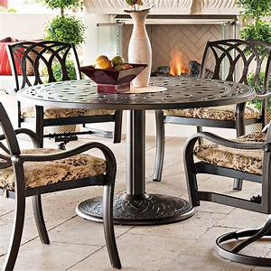 Telescope, Casual, 56, In, Round, Cast, Top, Pedestal, Dining, Table