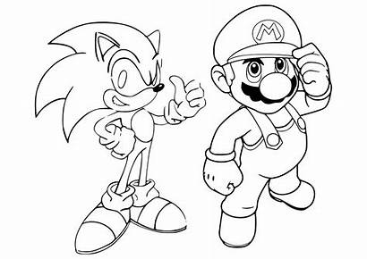 Mario Coloring Sonic Bros Printable Kart Maker