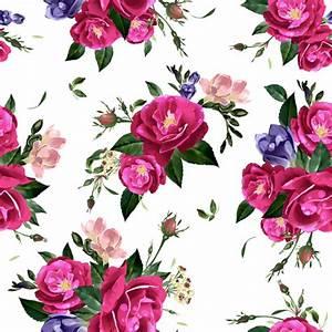 Retro beautiful roses vector seamless pattern 01 - Vector ...