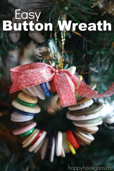 button wreath christmas tree ornament happy hooligans