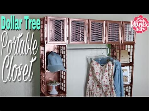 dollar tree diy portable crate closet vidoemo