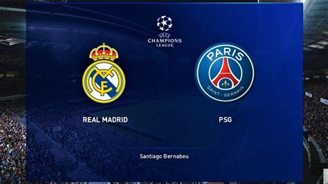 PES 2020 | REAL MADRID vs PSG | UEFA Champions League 2020 ...