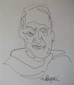 Picasso Blind Contour Drawing