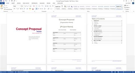 concept proposal template ms word