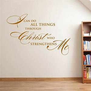 Christian vinyl wall art ideas about