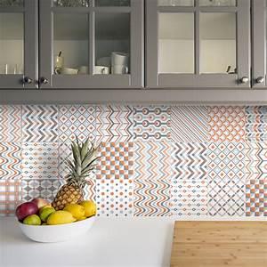 Stickers Carreaux De Ciment Cuisine : 24 stickers carreaux de ciment ethnique makati cuisine ~ Melissatoandfro.com Idées de Décoration