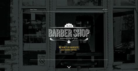 barber shop  page website award