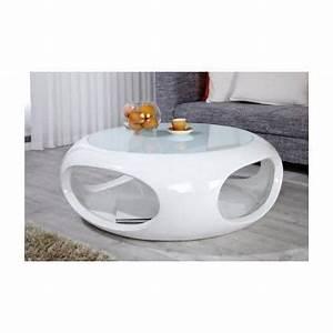 Table De Salon Ronde : table basse ronde moira blanc achat vente table basse table basse ronde moira b ~ Teatrodelosmanantiales.com Idées de Décoration