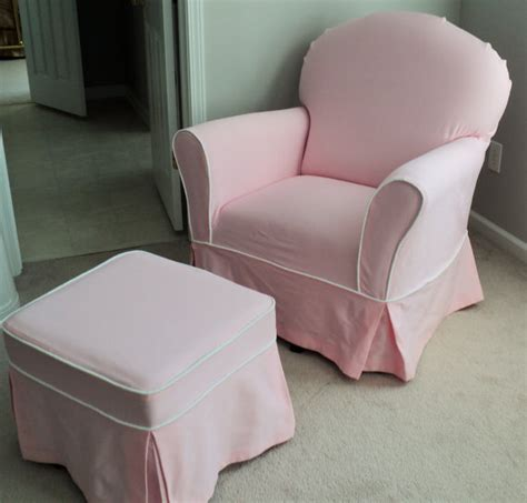 glider chair slipcovers custom nursery glider chair and ottoman slipcover set