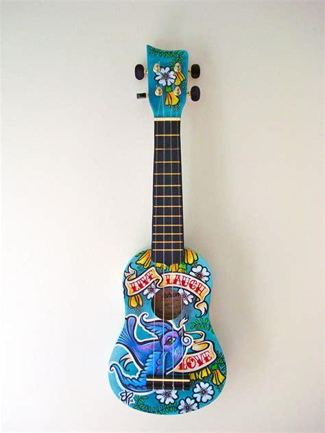 custom ukulele  laugh love  behance