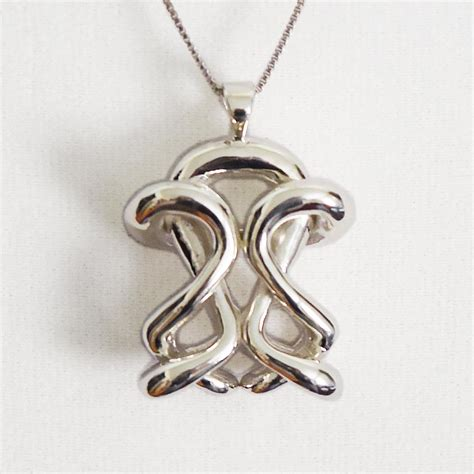 Infinity Necklace: Silver Statement Necklace from Infinity