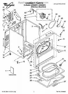 Parts For Whirlpool Leq9508pw1  Cabinet Parts