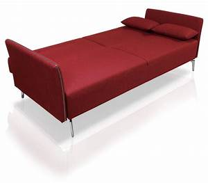 superb contemporary red fabric single convertible sofa bed With red modern sofa bed