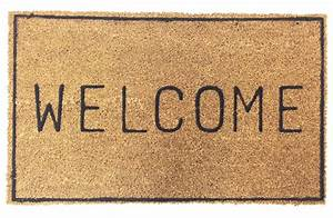 VINYL BACKED WELCOME COCO DOORMAT WITH BORDER | Coco Mats ...