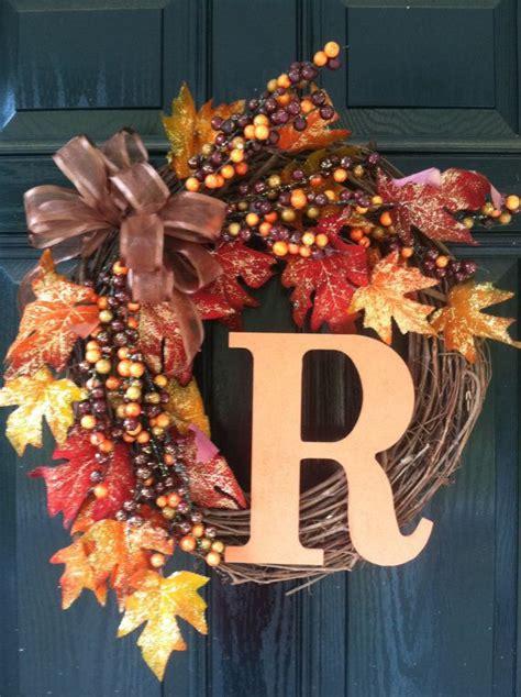 items similar  fall wreath winitial  etsy wreaths