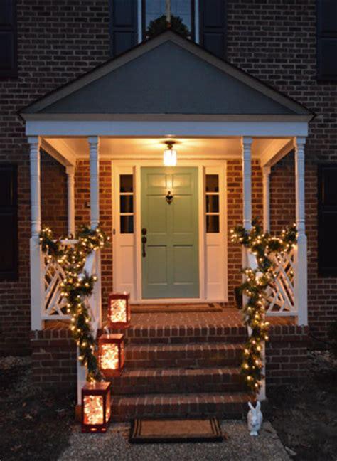 how to hang garland around front door outdoor decorating the easy way to hang window