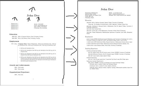 Best Page Margins For Resume by Header Footer Page Layout And Margins Tex