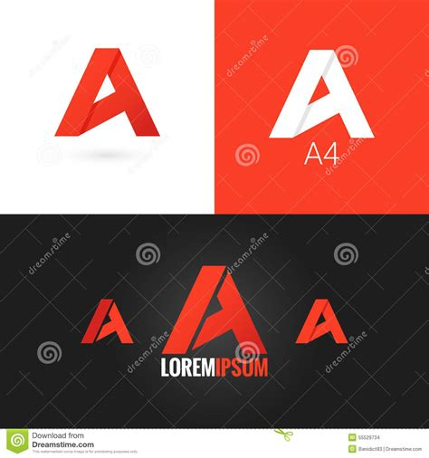 letter a logo design icon set background stock vector image 55529734