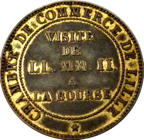 chambre de commerce lille napoléon iii chambre de commerce lille tokens numista