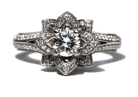 engagement rings flower design something engagement ring floral design