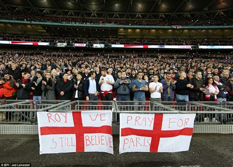 England Stands Shoulder With France Wembley
