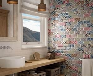Faience Carreaux De Ciment : carrelage mural 7 5x15 metro patchwork equipe ceramicas 7 ~ Premium-room.com Idées de Décoration