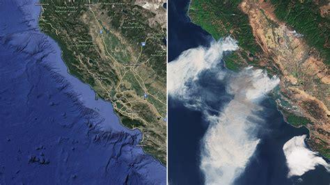 Satellite images show devastating extent of California ...