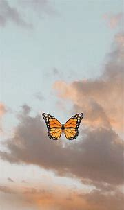 Sky and butterfly   Butterfly wallpaper iphone, Iphone ...