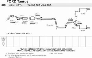 33 Ford Taurus Exhaust System Diagram