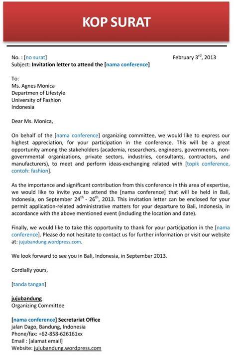 Contoh Surat Resume Dalam Bahasa Inggris by Contoh Surat Undangan Conference Bahasa Inggris