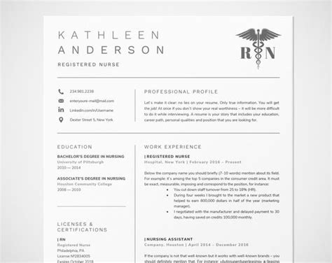 registered nurse resume template for word nursing resume