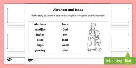 abraham activity storyboard worksheet ks twinkl