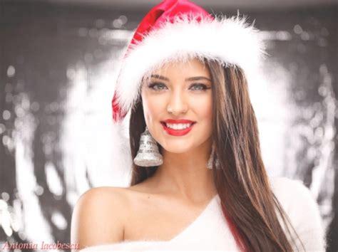 antonia most beautiful romanian women model christmas