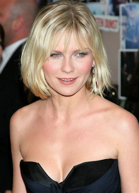 Bob Hairstyle for Women: Simple Blonde Bob with Fringe