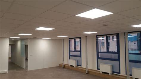 eclairage led bureau rénovation électrique complète d 39 un plateau de bureau