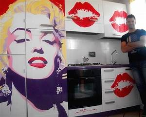 pop art kitchen marilyn monroe modern kitchen With kitchen cabinets lowes with wall art marilyn monroe