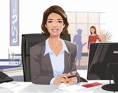Cartoon Professional Woman Illustration Businessperson Businesswoman Secretary
