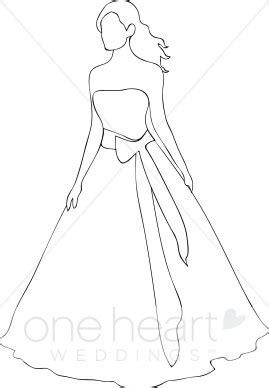 bride outline clipart bride clipart