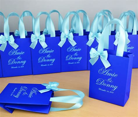 Blue ribbon benefits, is a family business that enjoys helping people. 25 Chic Royal Blue Wedding Welcome bags with satin ribbon ...